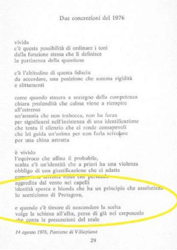 V.S. Gaudio, Due concrezioni del 1976, in: Idem, Lavori dal desiderio, Guanda, Milano 1978